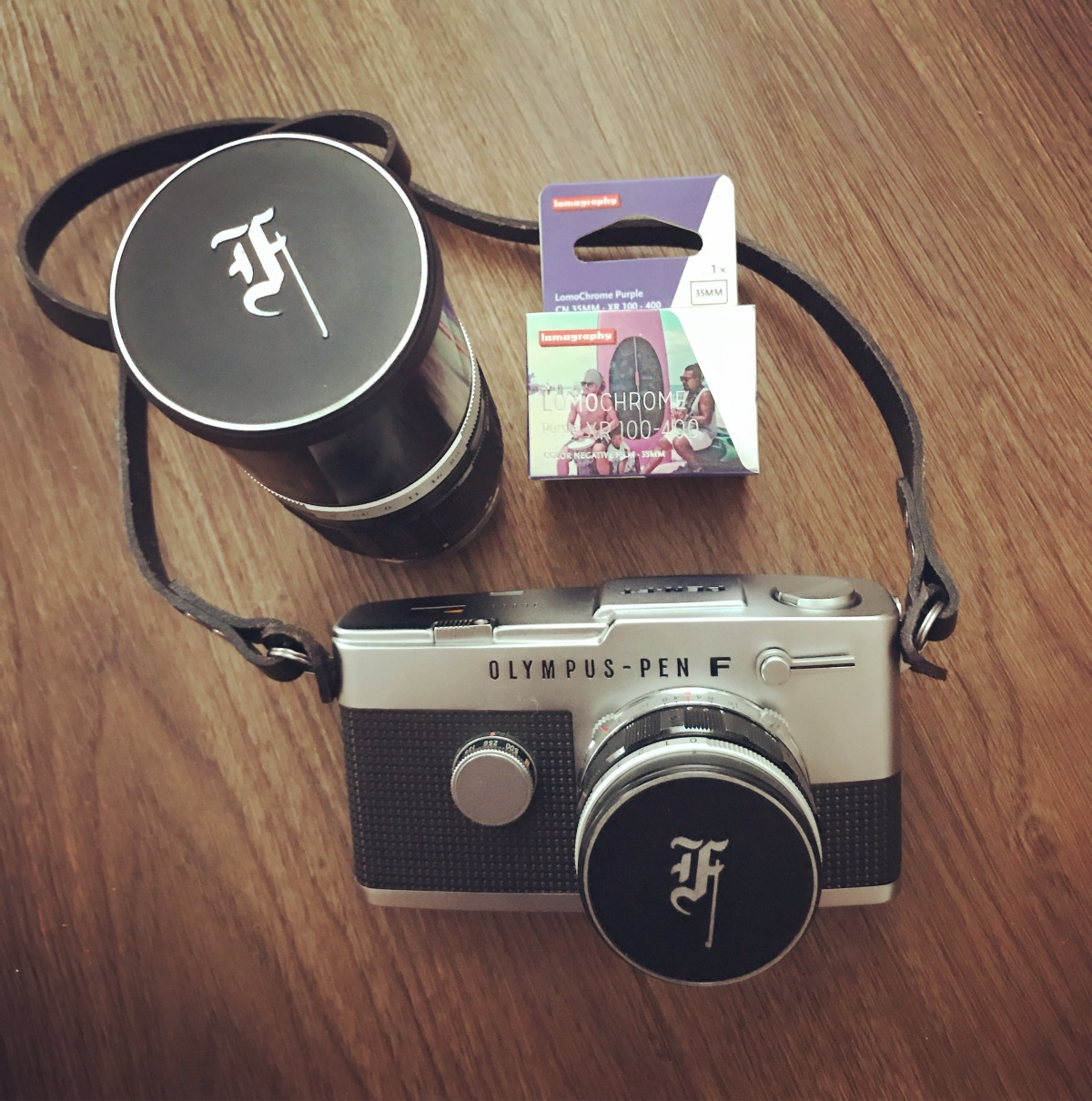 My Olympus Pen FT Camera and Lomochrome Purple 35mm film