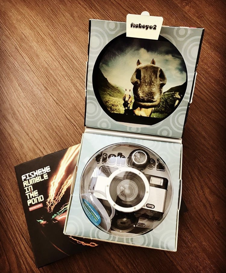 Lomography Fisheye No. 2 35mm Camera and LomoChrome Purple XR 100-400Film