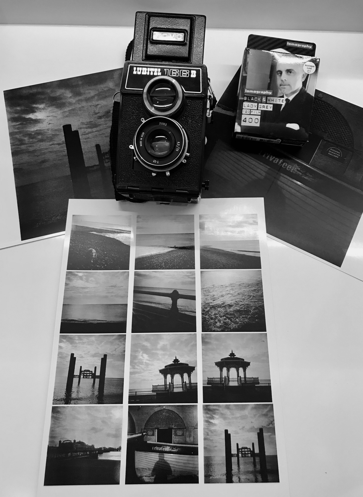 Shooting black and white film with the Lubitel 166B